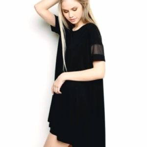 Brandy Melville black mesh sleeve tshirt dress.